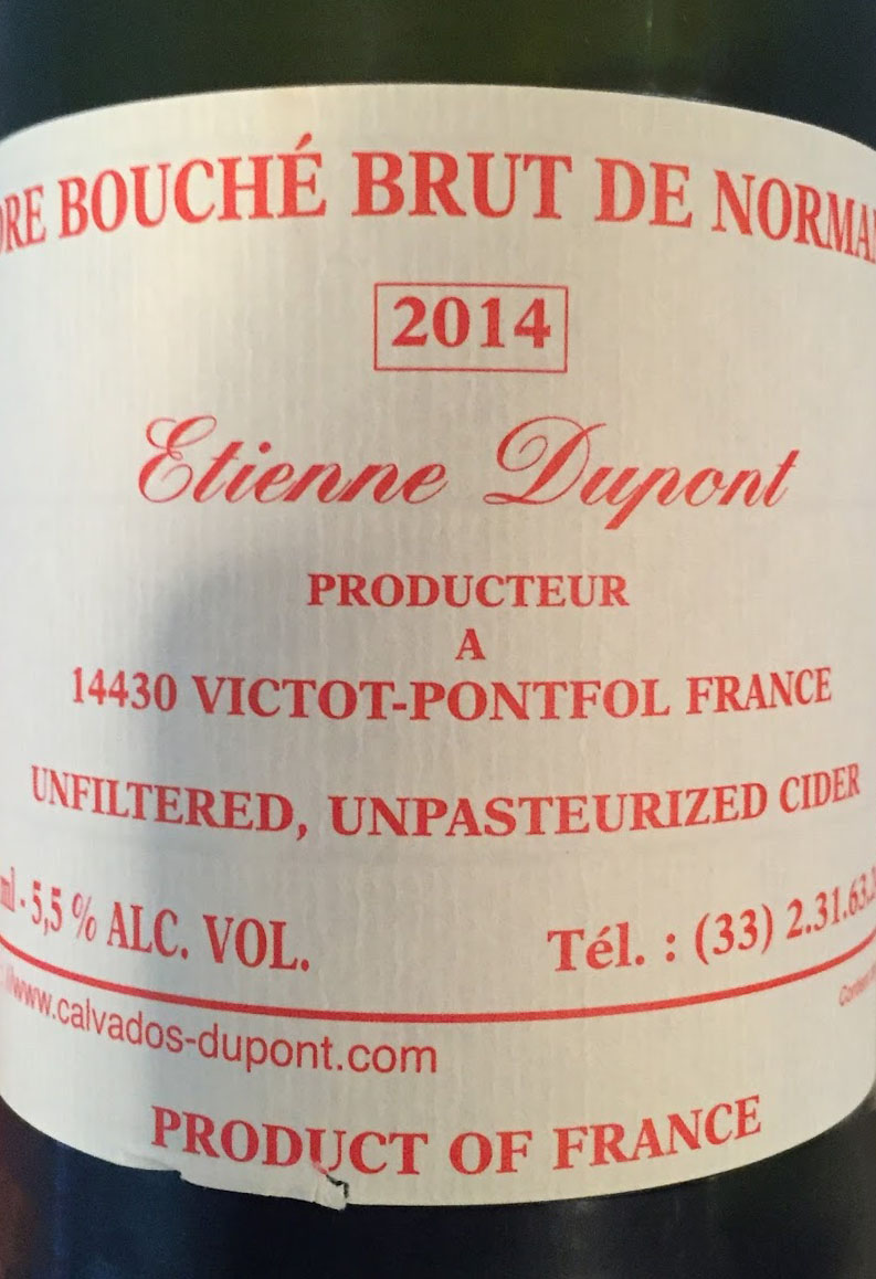 Cidre Bouche Brut De Normandie