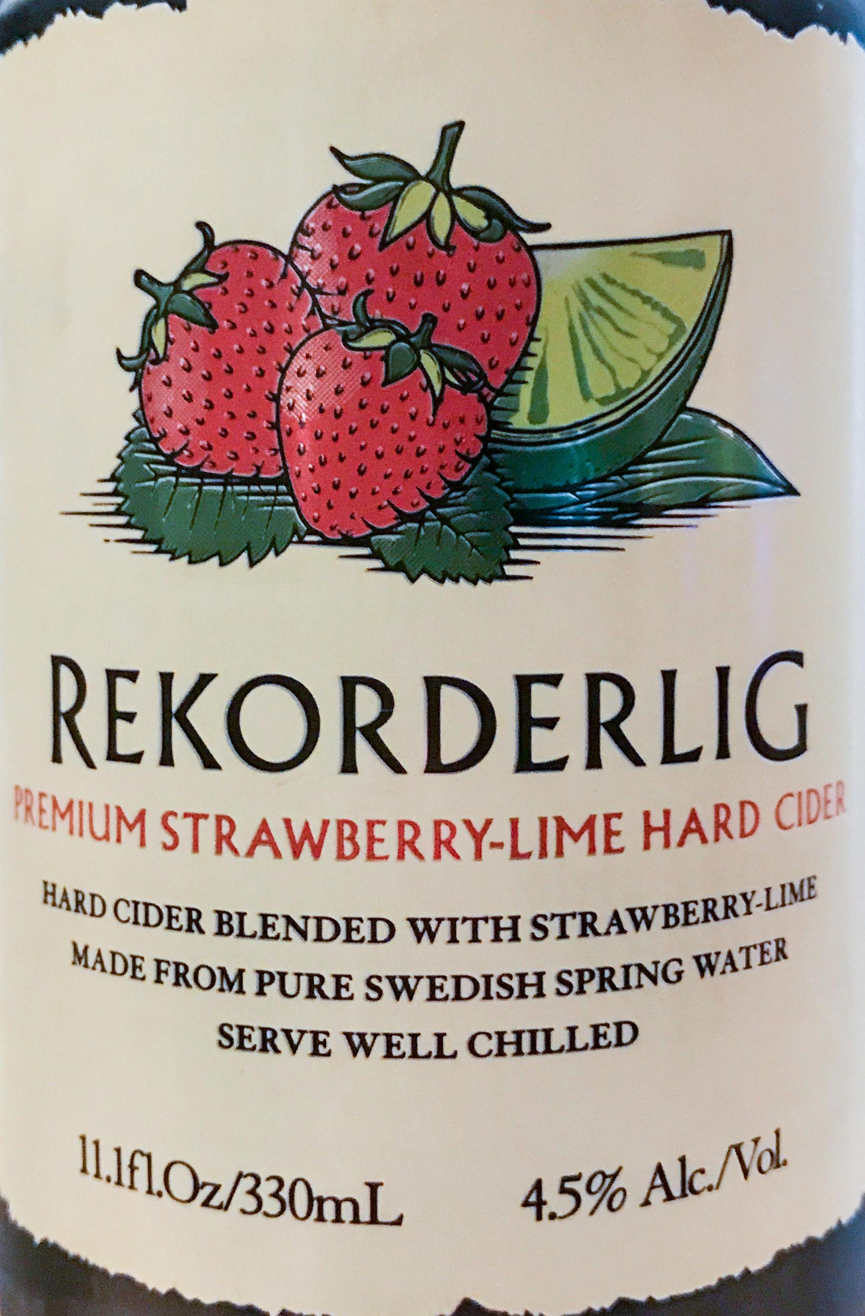 Strawberry-Lime Hard Cider