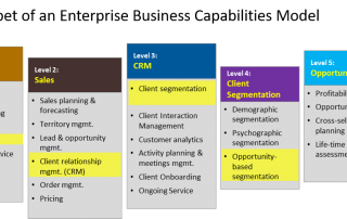 CRM capabilities as an integral part of enterprise capabilities model