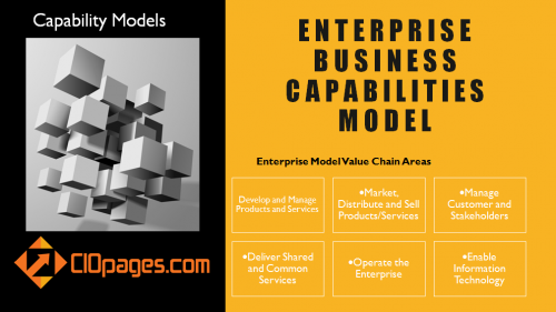 Enterprise business capabilities model