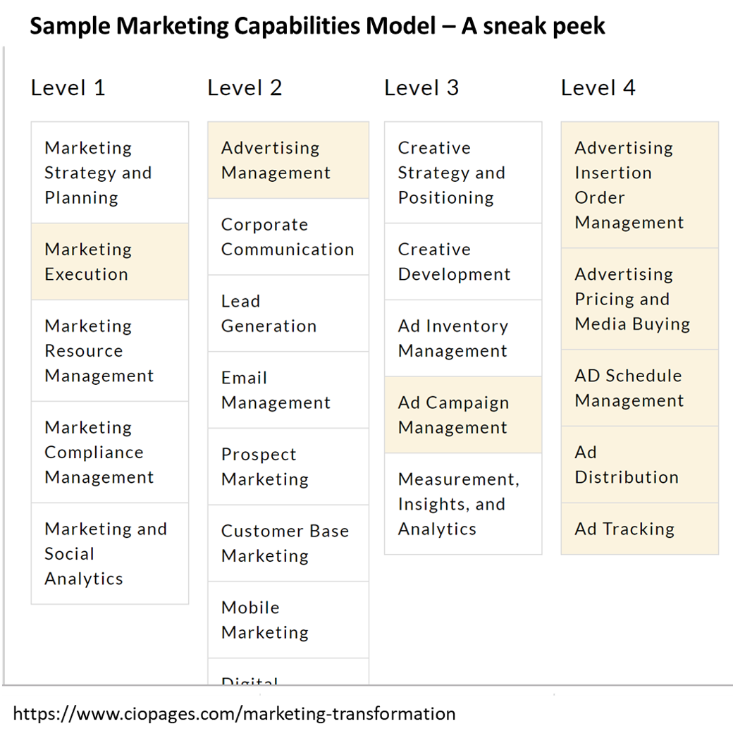 Marketing Capabilities Framework Sample