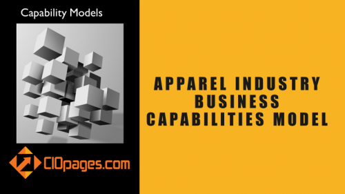 Apparel Industry Business Capabilities Model