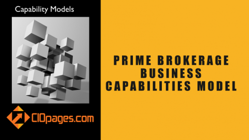 Prime Brokerage Business Capabilities Model
