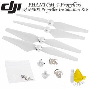 DJI Phantom 4 Propeller Installation Bundle: Includes 2 Pairs of DJI 9450S Quick Release Propellers & DJI Part 51 9450S Propeller Installation Kit and CS Cleaning Kit