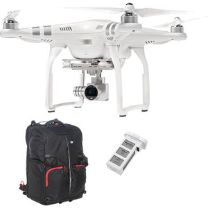 DJI Phantom 3 Advanced with 1080p Camera and Battery Bundle with Backpack