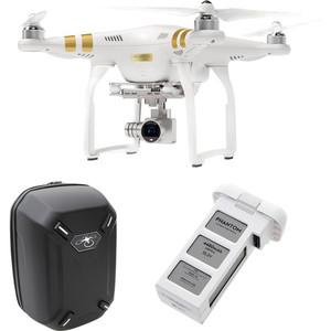 DJI Phantom 3 Professsional with 4K Camera and Battery Bundle with Hardshell Backpack