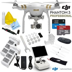 DJI Phantom 3 Professional Quadcopter Drone With CS Starters Package