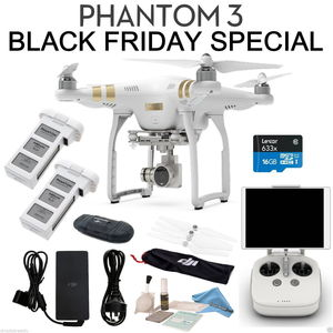 DJI Phantom 3 Professional Bundle CYBER MONDAY SPECIAL Includes SPARE BATTERY