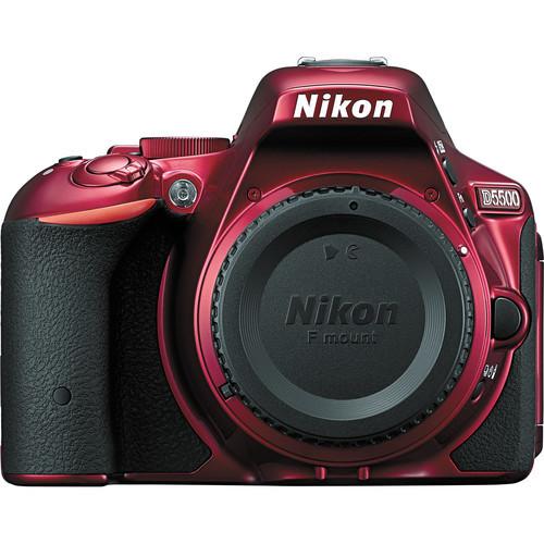 Nikon d5500 dslr camera %28body only  red%29