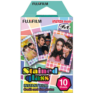 Fuji Instax Mini Instant Film Stained Glass (10 Exposures)