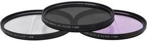 3 Piece Video Filter Kit 77mm (UV/CPL/FLD)