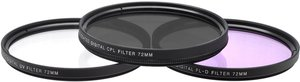 Digital Multi-Coated 3-Piece Camera Lens Filter Set 72mm