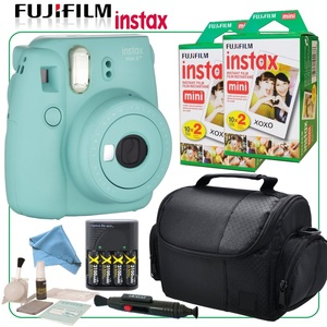 Fuji Instax Mini 8+ Instant Film Camera (Mint) with Selfie Mirror & CircuitStreet Instax Bundle