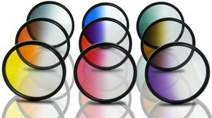 Opteka 62mm HD Multicoated Graduated Color Filter Kit For Digital SLR Cameras Includes: Red, Orange, Blue, Yellow, Green, Brown, Purple, Pink and Gray ND Filters