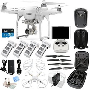 DJI Phantom 3 Advanced Bundle - w/ Circuit Street EVERYTHING YOU NEED KIT Includes Phantom Hard Shell Case - 4 Batteries + Charging Hub (Charges 4 Batteries At Once) and more...