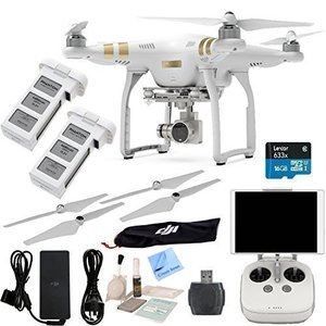 DJI Phantom 3 Professional Bundle - w/ Circuit Street  Includes SPARE BATTERY + Card Reader + Cleaning Kit + Brush Blower + Circuit Street Microfiber Cleaning Cloth
