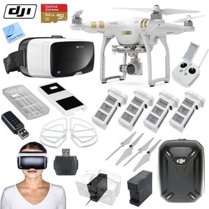 "DJI Phantom 3 Professional Quadcopter Drone Bundle with Zeiss VR One Virtual Reality Headset & Circuit Street ""Eye in the Sky"" Package (Galaxy S6)"