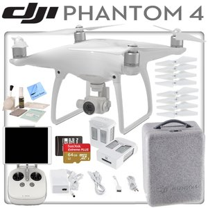 DJI Phantom 4 Quadcopter w/ Ready To Fly Bundle: Includes 2 Intelligent Flight Batteries, SanDisk 64GB MicroSD Card and more...