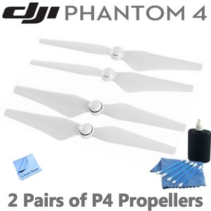 DJI Phantom 4 Propeller Package: Includes 2 Pairs of DJI 9450S Quick Release Propellers for DJI Phantom 4 Drone & Circuit Street Cleaning Kit