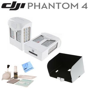 DJI Phantom 4 Accessory Bundle: Includes 2 Intelligent Flight Batteries, Tablet Monitor Hood, Circuit Street Brush Blower,Circuit StreetCleaning Kit & Circuit Street Microfiber Cleaning Cloth