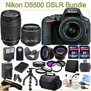 D5500 Advanced Package - Includes 18-55mm VR II & 70-300mm Lenses, Wide Angle & Telephoto Lenses, Filters, Macro Lenses and more.