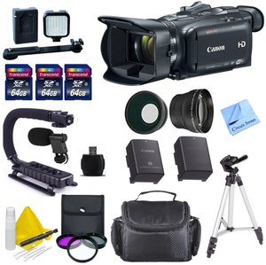 Professional Digital Video Kit for Canon -Includes Canon Pro Video Camera + 3 64 GB Transcend SD Cards + Spare Battery + Digital Video Microphone + LED Light Kit + Scorpion Grip & More