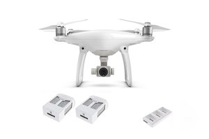 DJI Phantom 4 Quadcopter Kit with Two Spare Batteries and Charging Hub