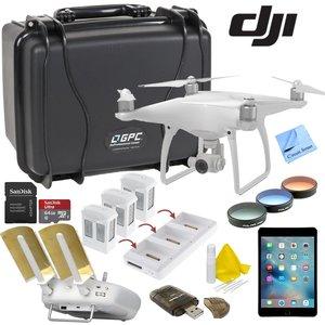 DJI Phantom 4 Platinum Bundle: Includes Apple iPad Mini 4, Go Professional Wheeled Hard Case, Range Extender/Booster, Filters, 3 Batteries, Charging Hub and more...