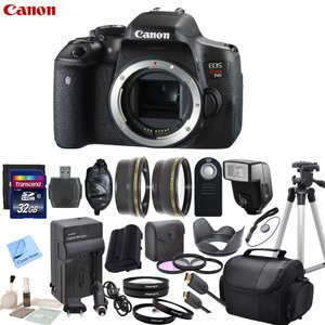 Canon EOS T6i Digital SLR Camera Body Only Bundle with CS Premium Kit - International Version