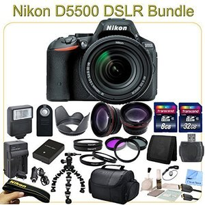 D5500 Advanced Package - Includes 18-140mm VR Lens, Wide Angle & Telephoto Lenses, Filters, Macro Lenses and more...