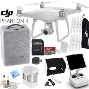 DJI Phantom 4 Quadcopter w/ Circuit Street Bundle: Includes Intelligent Flight Battery, SanDisk 32GB MicroSD Card, Monitor Hood and more...