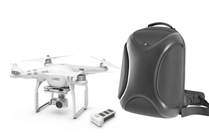 DJI Phantom 3 Advanced with 1080p Camera and Battery Bundle with Multifunctional Backpack
