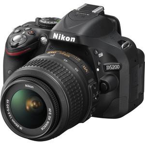 Nikon D5200 DSLR Camera with 18-55mm and 55-300mm Lenses (Black)