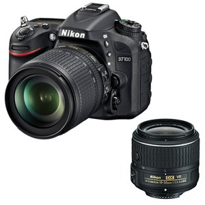 Nikon D7100 DSLR Camera with 18-55mm and 18-105mm Lens