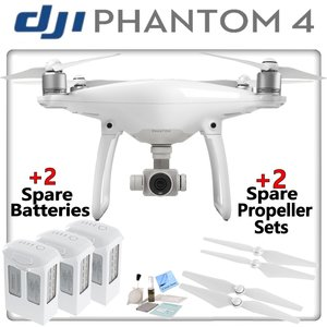 DJI Phantom 4 Quadcopter w/ Ready To Fly Bundle: Includes 3 Intelligent Flight Batteries, 2 Spare Propeller Sets and more...