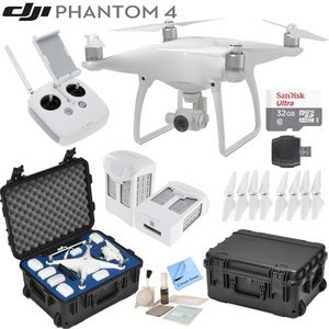 DJI Phantom 4 Quadcopter w/ Circuit Street Bundle: Includes 2 Intelligent Flight Batteries, SanDisk 32GB MicroSD Card, Go Professional Wheeled Carrying Case and more...