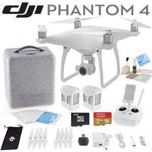 DJI Phantom 4 Quadcopter w/ Circuit Street Ready To Fly Bundle: Includes 2 Intelligent Flight Batteries, SanDisk 64GB Extreme MicroSD Card and more...