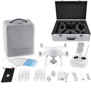 DJI Phantom 4 Quadcopter with 4K Camera, Transmitter Included - Bundle With DJI 100W 5350mAh Intelligent Flight Battery, DJI Aluminum Case