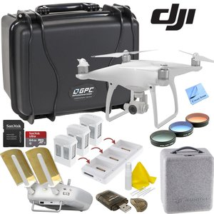 DJI Phantom 4 Bundle: Includes Go Professional Wheeled Hard Case, Range Extender/Booster, Filters, 3 Batteries, Charging Hub and more...