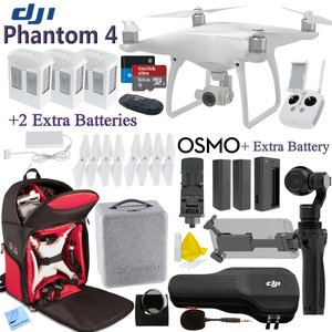 DJI Phantom 4 & OSMO Bundle: Includes 3 Phantom 4 Batteries, 2 Osmo Batteries, Phantom 4 Shockproof Backpack, SanDisk 64GB MicroSD Cards and more...