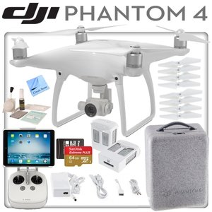 DJI Phantom 4 Quadcopter w/ Ready To Fly Bundle: Includes Apple iPad Mini, 2 Intelligent Flight Batteries, SanDisk 64GB MicroSD Card and more...