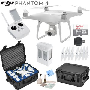 DJI Phantom 4 Quadcopter w/ Circuit Street Bundle: Includes Intelligent Flight Battery, SanDisk 32GB MicroSD Card, Go Professional Wheeled Carrying Case and more...