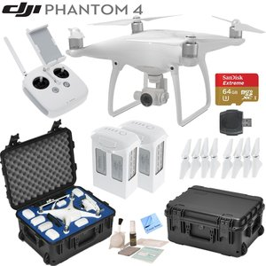 DJI Phantom 4 Quadcopter w/ Circuit Street Bundle: Includes 2 Intelligent Flight Batteries, SanDisk 64GB MicroSD Card, Go Professional Wheeled Carrying Case and more...