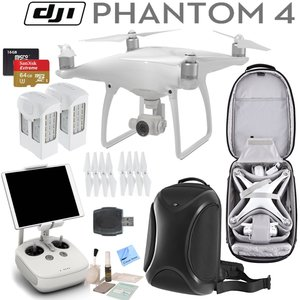 DJI Phantom 4 Quadcopter w/ Circuit Street Pro Bundle: Includes 2 Intelligent Flight Batteries, SanDisk 64GB Extreme MicroSD Card, DJI Professional Backpack and more...