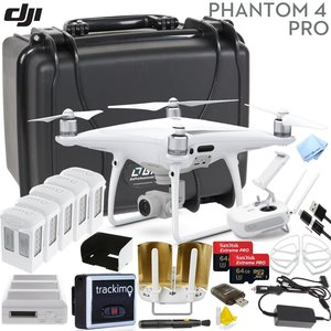 DJI Phantom 4 PRO V2.0 Executive Bundle: Includes Antenna Range Extenders, Trackimo GPS Tracker, 2x SanDisk 64GB Extreme Pro, Go Professional Wheeled Case, Propeller Guards & More...