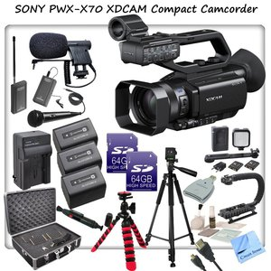 Sony PXW-X70 Professional XDCAM Compact Camcorder w/ CS Interview/Documentary Kit