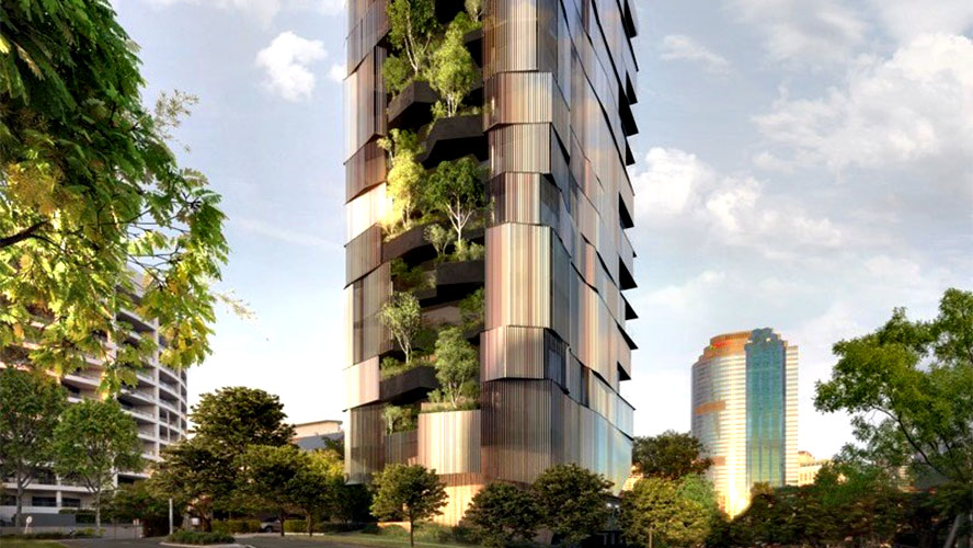 australia's first vertical forest apartment