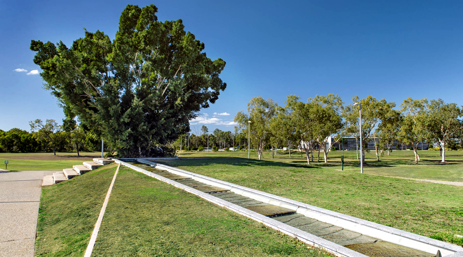 Water terrace - Burdell Town Square