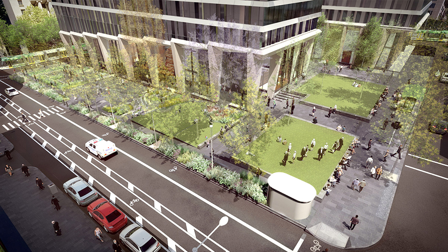 Designs for new urban park – Melbourne