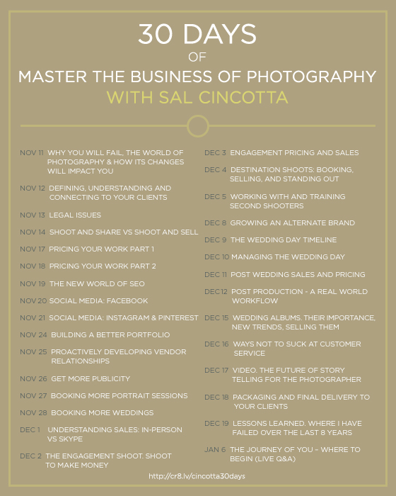 Master The Business Of Photography With Sal Cincotta